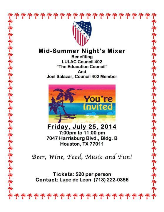 July 25 LULAC Mixer